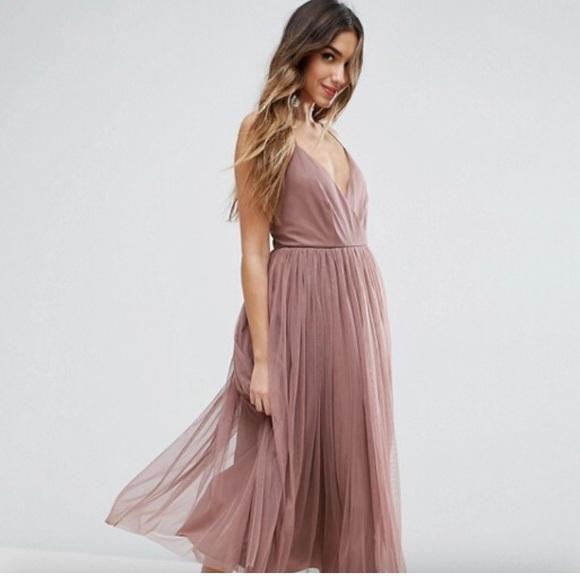 fe4b4538e55d ASOS Dresses | Nwt Dusty Rose Tulle Midi Dress | Poshmark